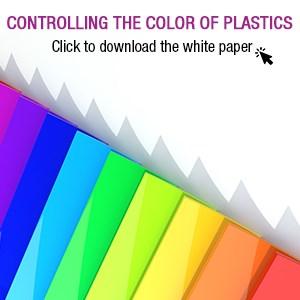 Controlling the color of plastics