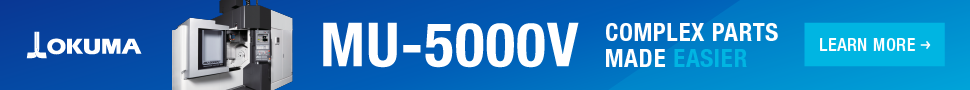 Okuma web banner for the MU-5000V