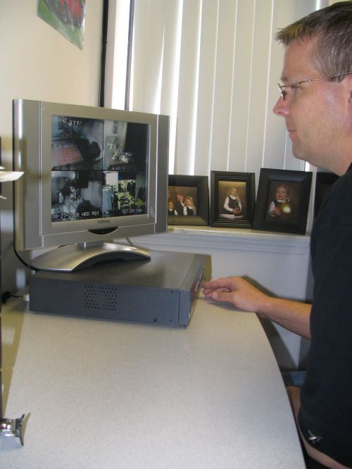 Corey Greenwald monitors his VMCs via video cameras