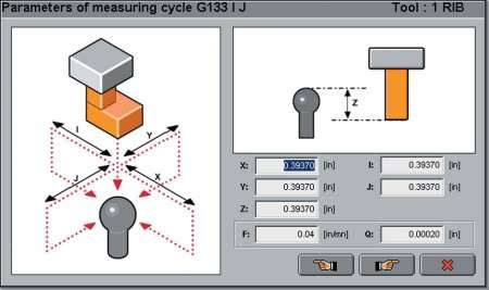 Graphical interface for measuring electrodes.