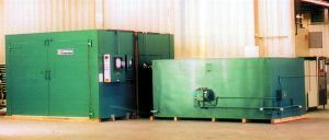 Walk-in oven for curing composites