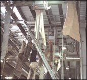 Overhead conveying system