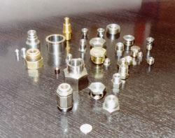 parts produced on General Plug and Manufacturing's multi-spindle automatics