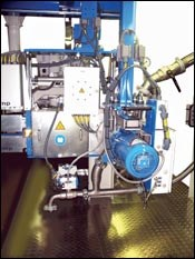 Steer showed a twin-screw extruder