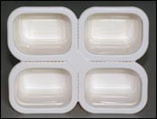 Perforated multi-compartment containers