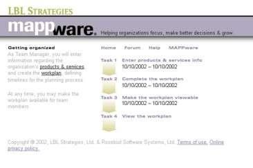Here is a sample of a task menu