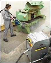 Dry ice pellets at -109°F remove contaminants
