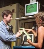 inspect a painted titanium casting