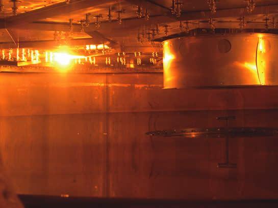 A peek inside the vacuum chamber