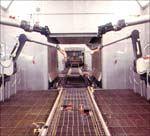 robotic spray zone