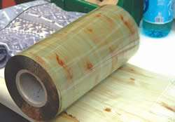 wood grain pattern on this film