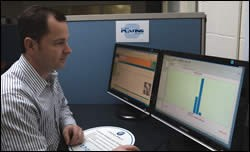 Robert Collin uses software to monitor and control