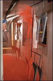 Use of dense-phase powder transport technology