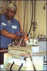barrel of electronics parts