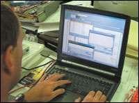 A modem in the control processor