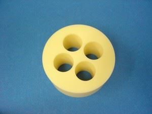 another ceramic part with critical holes
