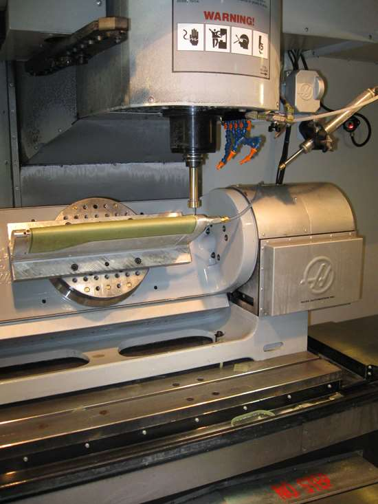 five-axis machining of composites