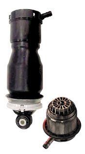 Composite pneumatic suspension