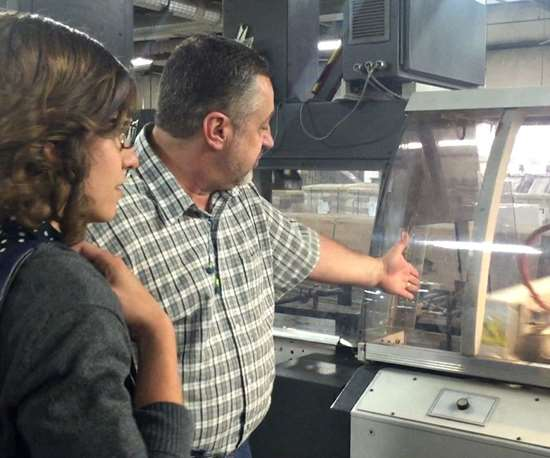 seeing how magazines are printed at Publisher's Press