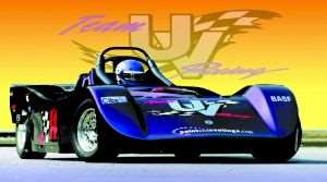 Full-scale race car