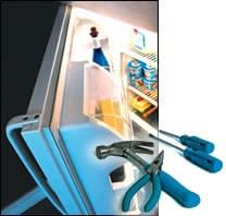 Refrigerator door seals and tool grips