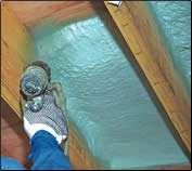 Rigid spray foam insulation