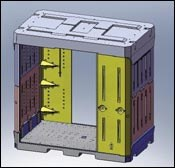 Rotomolded PE container
