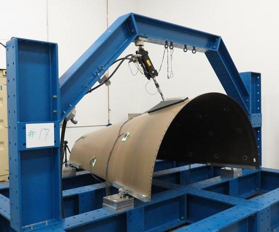 San Diego Composites large-scale load frame.