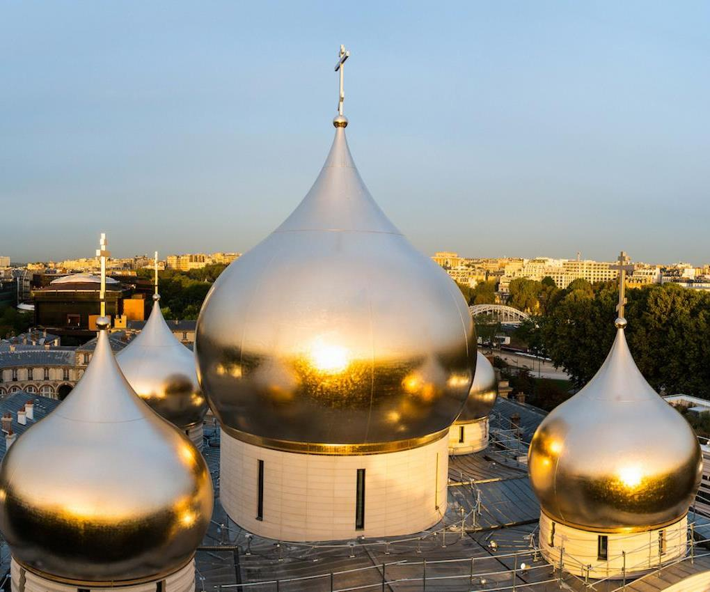 Sicomin composite in gilded domes