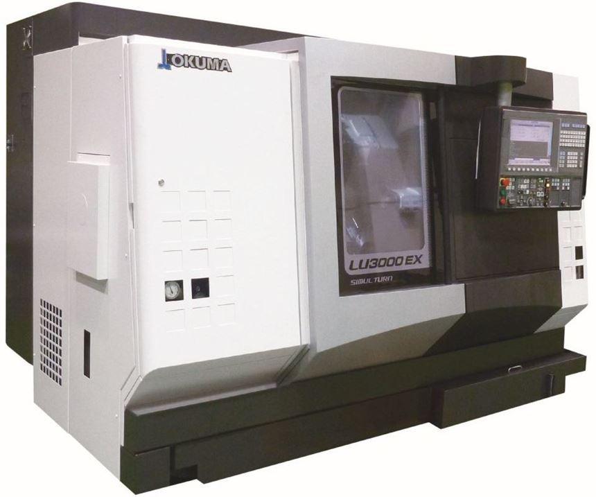 Okuma's LU3000 EX-M four-axis CNC lathe