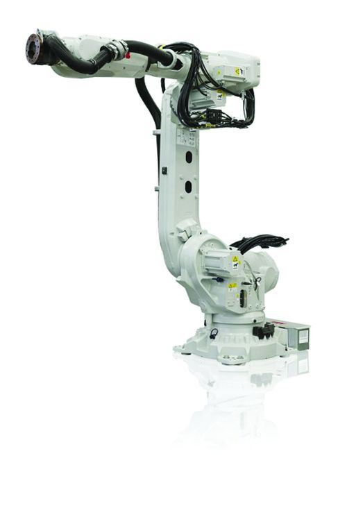 ABB Robotics' IRB 670 family of robotic arms is designed for spot welding, material handling and machine tending applications, particularly in harsh working environments.