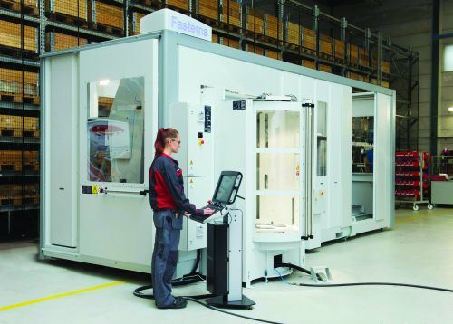 The Fastems FPC pallet system features an MMS5 control to enable automatic, dynamic job rescheduling for changing production situations.