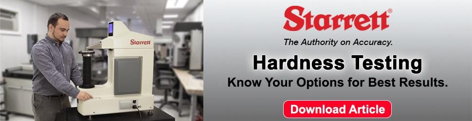 Starrett - New Hardness Testing Line