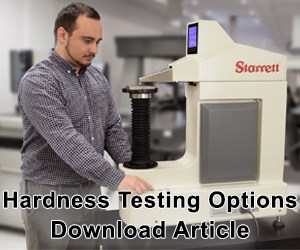 Starrett - New Hardness Testing Line