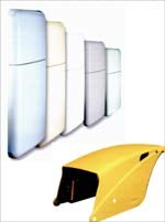 Stylish refrigerator doors and tractor body panels