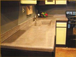 Concrete kitchen countertop reinforced with carbon fiber grid