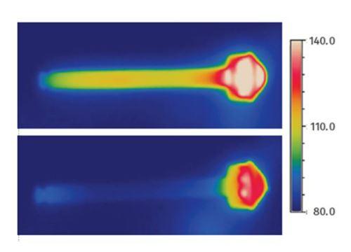 Termograma infrarrojo