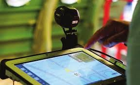 The augmented reality system uses a camera and tablet PC to compare as built assemblies to digital aircraft files.