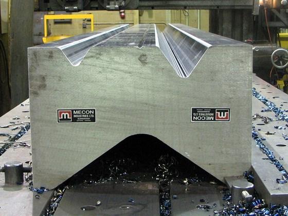 Massive tool steel workpiece.