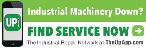 industrial machine repair, phone, UP! logo