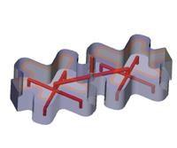 CAD image of a hot runner manifold