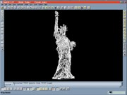 Copy CAD image of Statue of Liberty statuette.