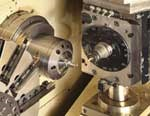 tool spindle prepares to drill