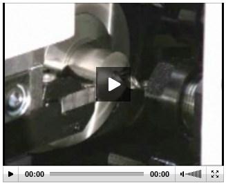Swiss-type lathe machining air bag part