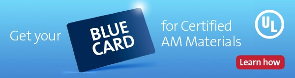 Blue Card for AM Materials ad
