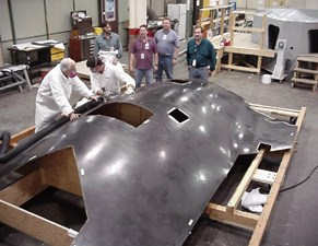X-45A upper fuselage skin