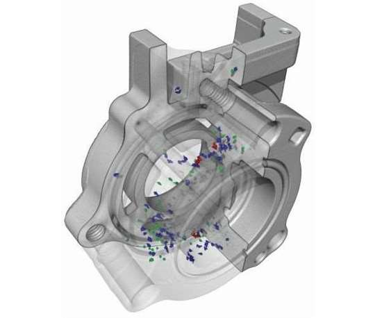 CT scan of an aluminum casting