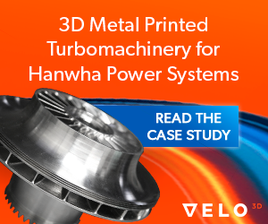 3D printing turbomachinery with VELO3D