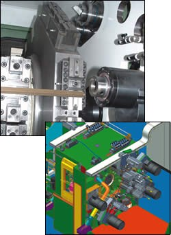 vertical configuration for rotary transfer machine