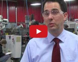 Scott Walker visits Cardinal Manufacturing